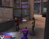 Spider-Man 2: The Game Windows Subdue the bank robbers.
