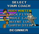 Jimmy Connors Pro Tennis Tour SNES Selecting a coach
