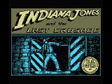Indiana Jones and the Last Crusade: The Action Game MSX Title screen