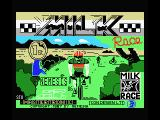 Milk Race MSX Title screen