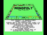 Monopoly MSX Title screen