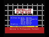 Footballer of the Year MSX Credits screen