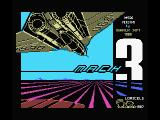 Mach 3 MSX Title screen