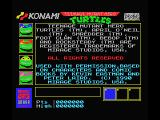Teenage Mutant Ninja Turtles MSX Game info