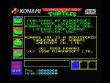 Teenage Mutant Ninja Turtles MSX Credits screen