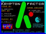 The Krypton Factor ZX Spectrum Loading Screen