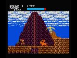 Rastan MSX Climb down the rope or slaughter the angel and the lion