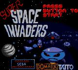 Taito's Super Space Invaders Game Gear Title screen