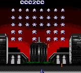 Taito's Super Space Invaders Game Gear Stage 1