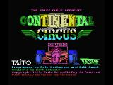 Continental Circus MSX Title screen