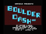 Boulder Dash MSX Title screen
