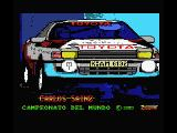 Carlos Sainz MSX Title screen