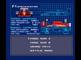 F-1 Spirit: 3D Special MSX Choose your race mode