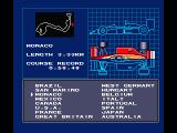 F-1 Spirit: 3D Special MSX Select the desired race course