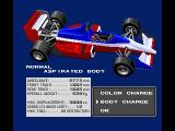 F-1 Spirit: 3D Special MSX You can also change the car body
