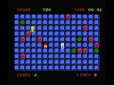 Kick It! MSX Collect the blue tiles and the green dam stone like objects