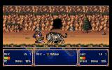 Farland Story: Shirogane no Tsubasa PC-98 Battle in front of a cave
