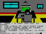 Imagination ZX Spectrum Starting location - selecting a game
