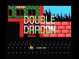 Double Dragon MSX Title screen