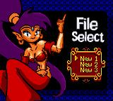 Shantae Game Boy Color Choosing a save slot.