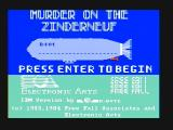 Murder on the Zinderneuf PC Booter Title screen (CGA with composite monitor)