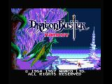 Dragon Buster MSX Title screen