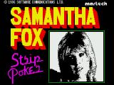 Samantha Fox Strip Poker ZX Spectrum Title screen
