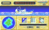 Jaws: The Computer Game Atari ST On the boat at the start