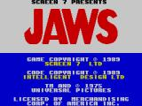Jaws: The Computer Game ZX Spectrum Title screen