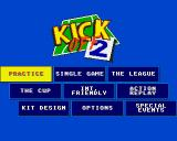 Kick Off 2 Amiga Main menu