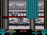 Shadow Dancer ZX Spectrum You can jump up very high to reach higher levels and also jump back down