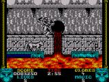 Shadow Dancer ZX Spectrum Time your jump carefully as the lava results in instant death