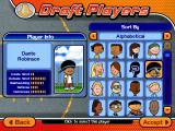 Backyard Basketball 2004 Windows Drafting players