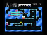 Mr. Do! MSX Push the block to get the enemy with an letter