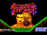 Altered Beast Amstrad CPC Title