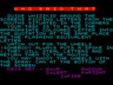 Who Said That? ZX Spectrum Loading Screen