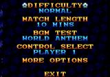 World Trophy Soccer Genesis Options