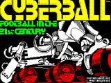 Cyberball ZX Spectrum Loading screen