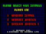 Cyberball ZX Spectrum Control selection