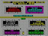 Cyberball ZX Spectrum Team selection