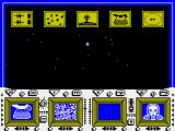 The Comet Game ZX Spectrum The main game screen - waiting for one of those icons to light up