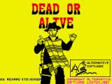 Dead or Alive ZX Spectrum Loading screen