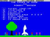 Caves of Doom ZX Spectrum Main menu