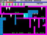 Caves of Doom ZX Spectrum Can't go past this without a blue key, so will have to go back