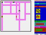 Chuckman ZX Spectrum The long-range map