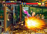 Real Bout Fatal Fury Neo Geo In a outstanding move, Mary uses her Vertical Arrow to surpass Chonrei's hyper move Teio Ryuseiken.