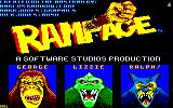 Rampage Amstrad CPC The characters