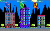Rampage Amstrad CPC All three monsters flying into the city