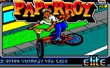Paperboy Amstrad CPC Title