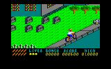 Paperboy Amstrad CPC Passing the cemetery